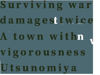 Surviving war damages twice A town with vigorousness Utsunomiya