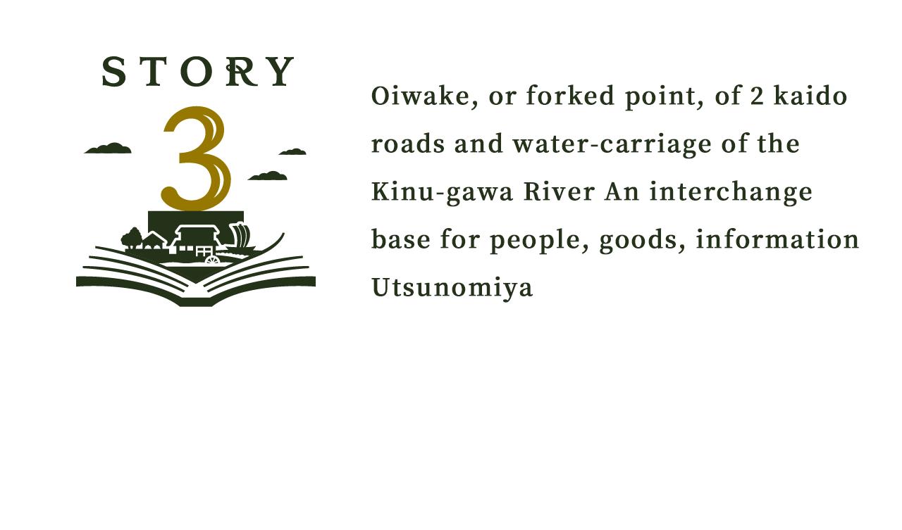 2つの街道の追分、水運の鬼怒川人・モノ・情報の交流拠点うつのみや